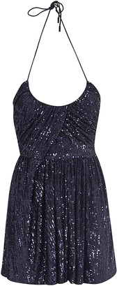Saint Laurent Sequin-coated Short Dress