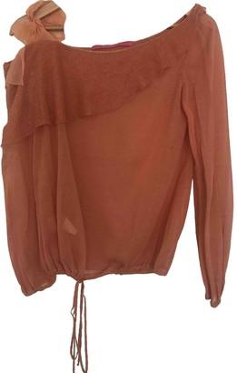Ungaro Orange Silk Top for Women Vintage