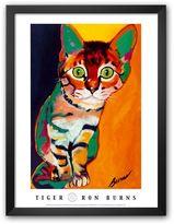 "Art.com Tiger"" Framed Art Print by Ron Burns"