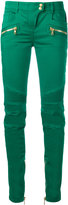 Balmain skinny biker trousers - women - Cotton/Polyethylene - 38