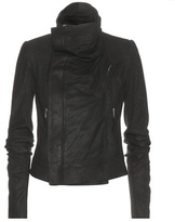 Rick Owens Classic Biker brushed leather jacket