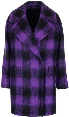 Tagliatore Checked Cocoon Loose Fit Coat
