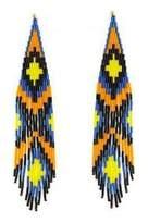 Forest of Chintz Blue Boho Earrings