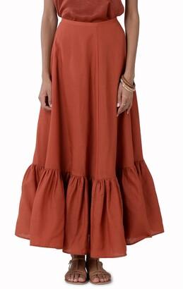 Molly Bracken Ruffle Hem Maxi Skirt