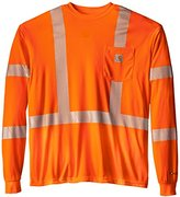 Carhartt Men's Big & Tall High Visibility Force Long Sleeve Class 3 Tee