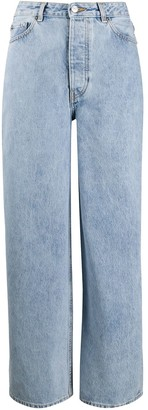 Ganni Oversized Low-Rise Jeans