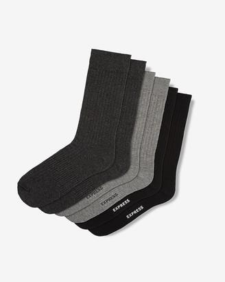 Express 3 Pack Fine Ribbed Socks