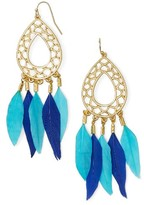 BaubleBar Women's Feather Drop Earrings