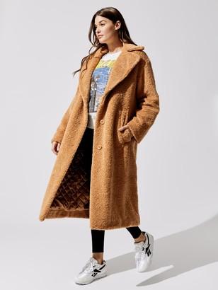 Proenza Schouler White Label Teddybear Coat With Side Slits