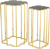 Eichholtz Concentric Side Table Set Of 2 - Gold Finish
