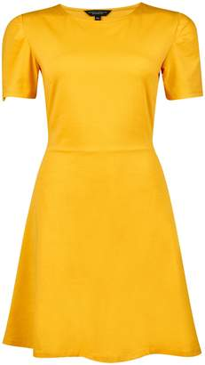 Dorothy Perkins Womens Mustard Fit And Flare Dress