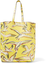 Emilio Pucci Printed textured-leather tote