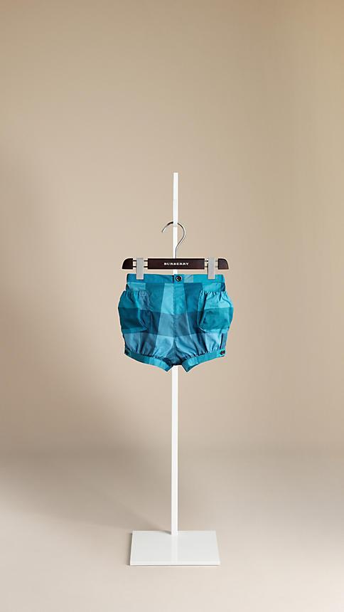 Burberry Check Cotton Shorts