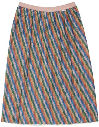 Molo Glittered Rainbow Midi Skirt