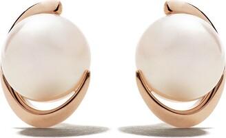 TASAKI 18kt rose gold Akoya pearl earrings