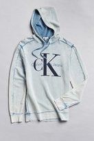 Calvin Klein Classic Logo Acid Wash Hoodie Sweatshirt