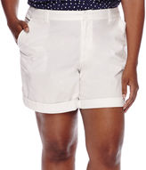 Liz Claiborne Roll-Cuff Shorts - Plus