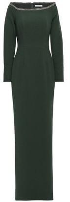 Rachel Gilbert Sequin-trimmed Crepe Gown