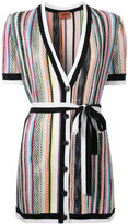 Missoni striped V-neck shortsleeved cardigan - women - Viscose/Wool - 44