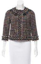 Magaschoni Embellished Long Sleeve Jacket