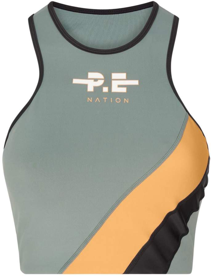 P.E Nation Aspendos Cropped Sports Bra