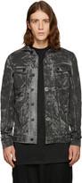 11 By Boris Bidjan Saberi Black Camo Wash Denim Jacket