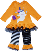 Honeydew Orange Ghost Ruffle Top & Pants - Infant, Toddler & Girls