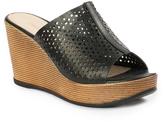 Pierre Dumas Black Outfit Wedge Sandal