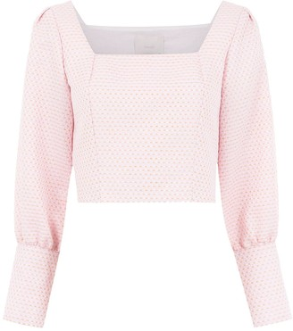 Framed Long Sleeved Cropped Top