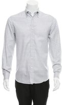 Ralph Lauren Purple Label Check Print Button-Down Shirt
