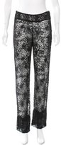 Oscar de la Renta Beaded Lace Pants w/ Tags