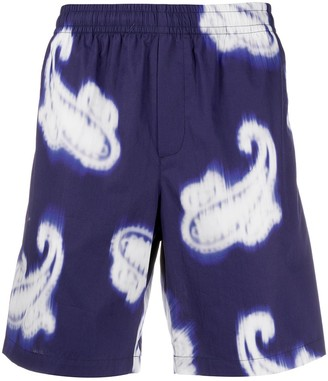 MSGM Paisley-Print Bermuda Shorts