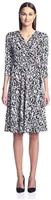 Society New York Women's 3/4 Sleeve Dress