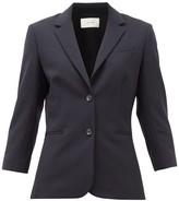 The Row Schoolboy Wool-blend Blazer - Womens - Navy