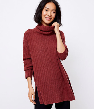 LOFT Lou & Grey Ribbed Turtleneck Tunic Sweater