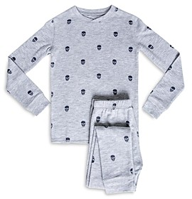 PJ Salvage Girls' Skull Print Pajama Set - Little Kid, Big Kid
