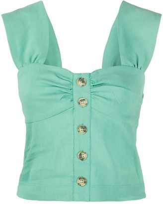 Pinko Button Front Cropped Camisole