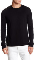 HUGO BOSS Scroco Embossed Faux Leather Sweater