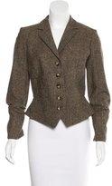 Etro Tweed Button-Up Blazer