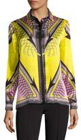 Versace Silk Button-Front Shirt