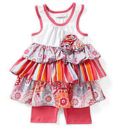 Bonnie Jean Bonnie Baby Girls 12-24 Months Solid/Mixed-Media Dress & Solid Bike Shorts Set