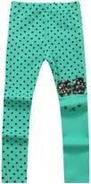 Richie House Girls' Asymmetric Happy Bunny Pants RH0155-A-3/4