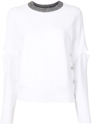 Ports 1961 Split-Elbow Ribbed Sweater