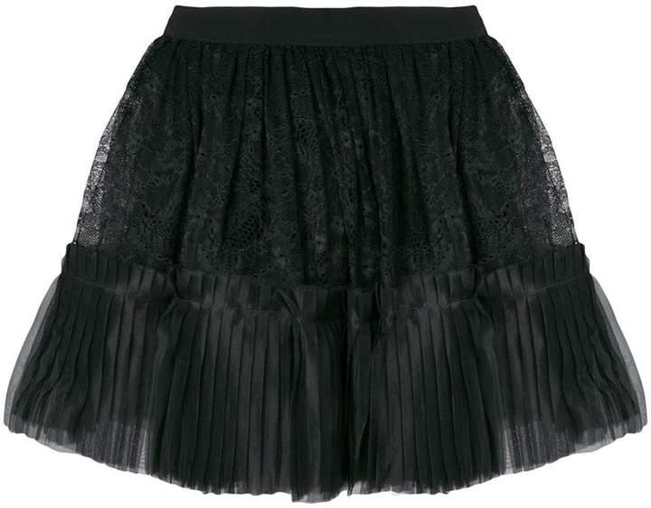 Amen full lace pleated skirt