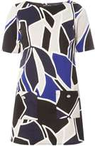 Dorothy Perkins Black And Cobalt Geometric Tunic