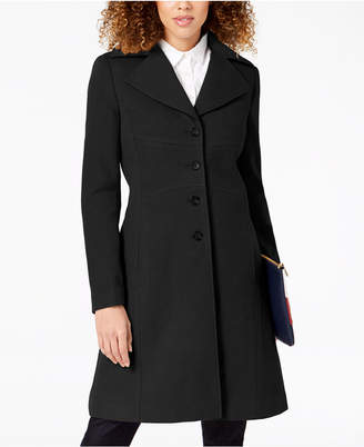 Tommy Hilfiger Petite Single-Breasted Peacoat