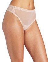 OnGossamer Women's Mesh Hi Cut Panty Thong