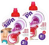 ChooMee Sip'n Soft Top with Flow Control and Cap for Food Pouch Feeding (2 Red and 2 Purple)