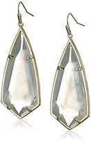 Kendra Scott Caroline Gold Ivory Mother of Pearl Drop Earrings