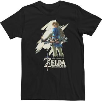 Licensed Character Young Men's Nintendo Legend Of Zelda Breath Of The Wild Paint Swipe Link Tee